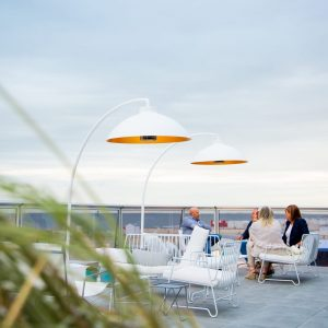 Moderne buitenverlichting HeatSail Dome wit