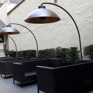 Moderne buitenverlichting Heatsail Dome bruin