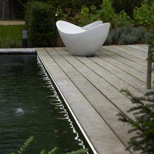 Moderne buitenverlichting ledstrip zwembad